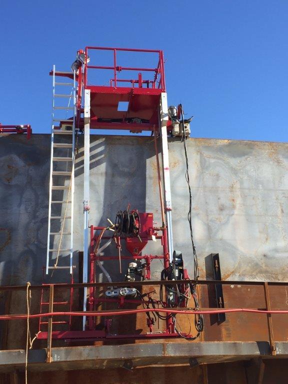 AGW on Shell Tk 135 Scaffold Side